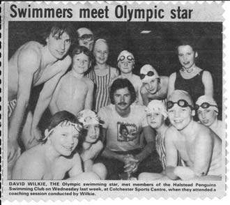 Olympic star David Wilkie conducted a training session