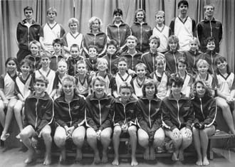 Halstead swimming club in the 1980s