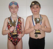 Swimmer of the month - Rose Vinter and Jamie Hall